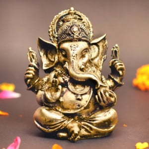 Oxidized Ganesha Figure
