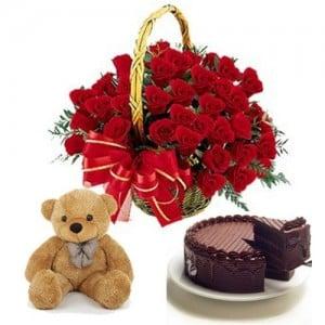 Flower Cake Hampers