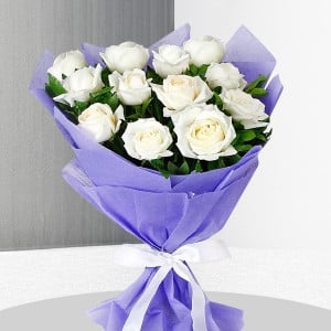 White Roses Bunch