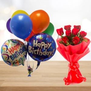Birthday Surprise with Balloons