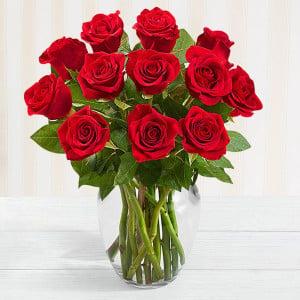 Vase of Red Love