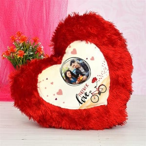 Personalised Heart Soft Pillow