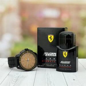 Ferrari Perfume and Fastrack Watch Hamper