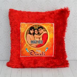 Diwali Red Personalised Pillow