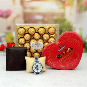 Timex Watch with Chocolate Hamper
