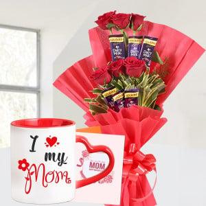 Chocolate Rose Bouquet with Customized Mug
