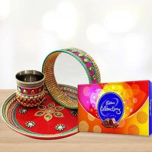 Chocolate Karwa Thali