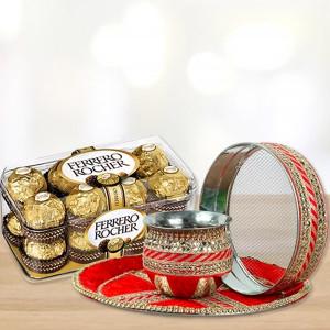 Ferrero Rocher Karwa Thali