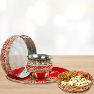 Karwa Thali with Nutty Basket