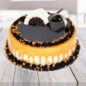 Half kg Carmell Chocolate Cake