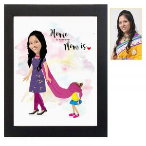 Mom's Personalized Caricature Frame