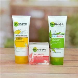 GARNIER FACE WASH AND ANTI AGEING CREAM