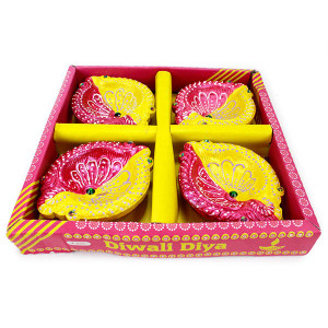 EXQUISITE DIWALI DIYA (SET OF 4)