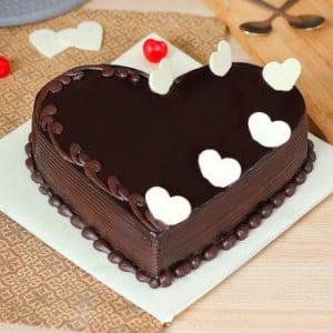 Truffle Heart Shaped Cake