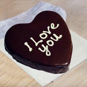 Love You Heart Cake