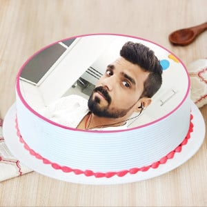 Perfect Strawberry Photo Cake
