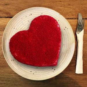 HeartShaped Red Velvet Cake