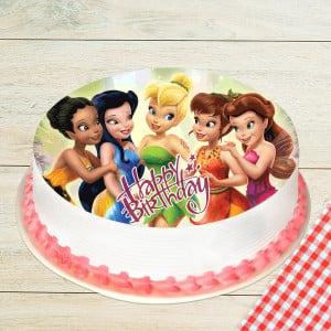 Sweet Fairies Photo Pineapple Cake