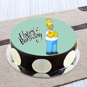 Angry Simpson Chocolate Photo Cake