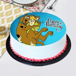 Lovely scooby & Shaggy Pineapple Photo Cake