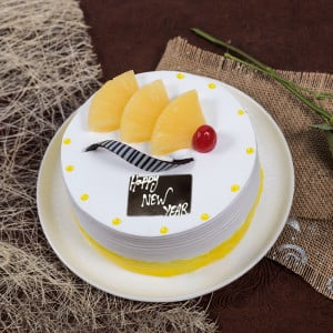 Pineapple Happy New Year Cake