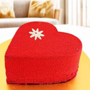 Heart Shape Sugarfree Red Velvet Cake