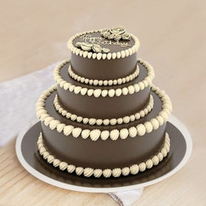 3 Tier Chocolate Truffle Cake