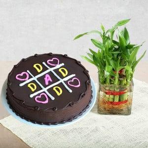 Delicious XOXO Cake with Lucky Bamboo