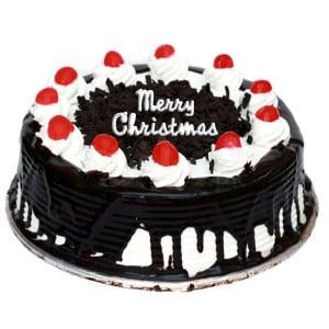 Christmas Blackforest Cake Half Kg