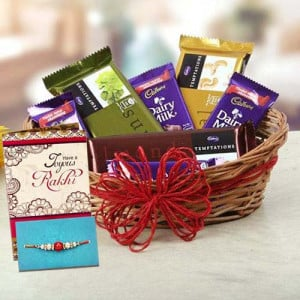 Rakhi With Chocolates Online Delivery