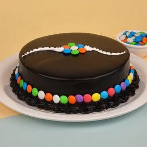 Chocolate Gems Cake for Rakhi