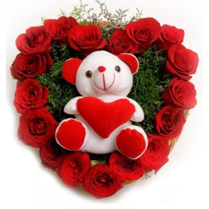Roses N Soft Toy - Bouquet
