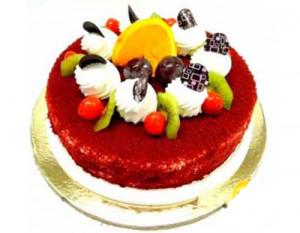 Red Velvet Fruit Cake Half Kg
