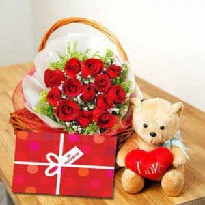 Love Basket with Bear