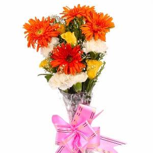 Twelve Colorful Assorted Flowers Bouquet
