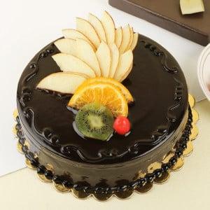 Chocolate N Fruit Duet Cake