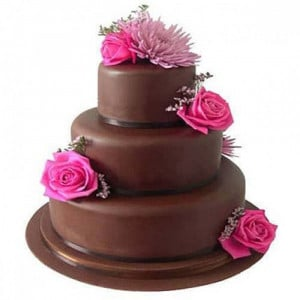 3 Tier Fondant Truffle Cake