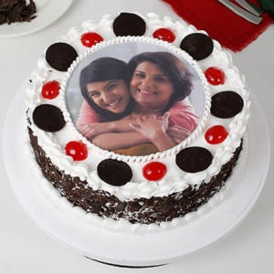 Black Forest  Photo Cake For Mother