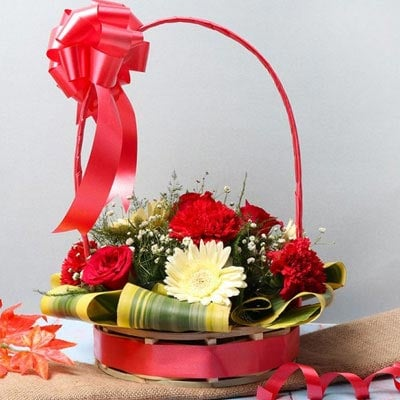 Flower Basket Arrangement Online