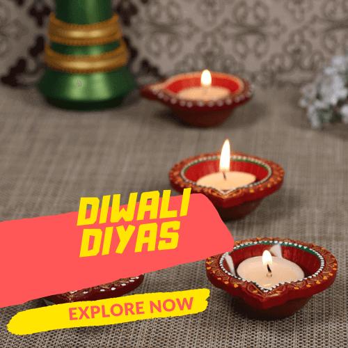 Diwali Diyas & Candles Online