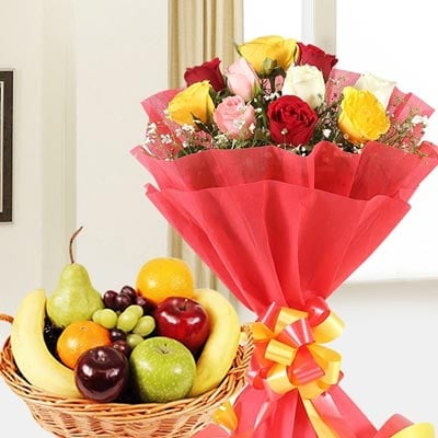 Birthday Flowers and Fruits Online