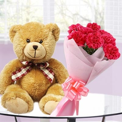 Birthday Flowers and Teddy Online